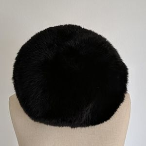 Vintage black fur cap